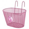 Košík predný oceľ, na detský bicykel, ružový
