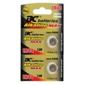 Batéria - alkalická LR44, 1,5V, 2 ks/sada, v blist