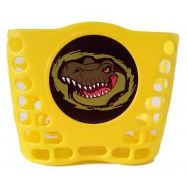 Košík predný plast, detský, žltý, motív