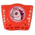 Košík predný plast, detský, červený, motív